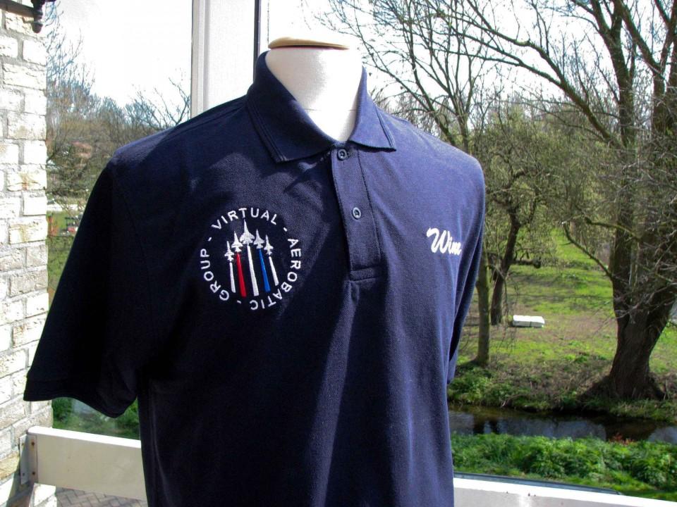 Geborduurd logo en naam op polo