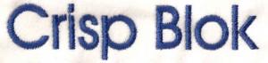 Lettertype: Crisp Blok
