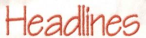 Lettertype Headlines